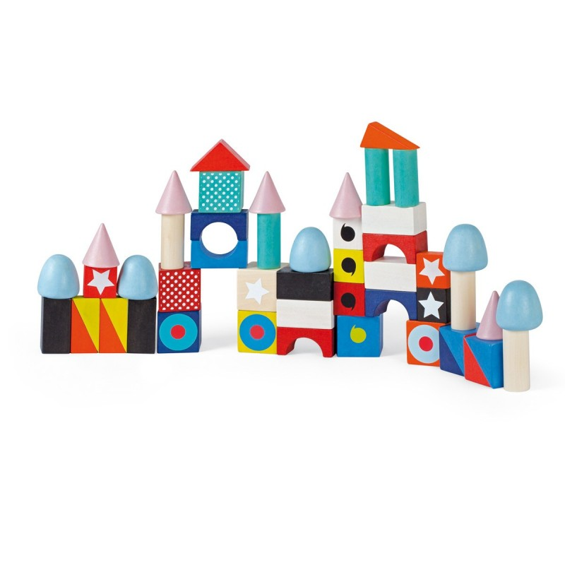 50 maxi cubes de construction en bois janod plan te des p 39 tits for Construction cube bois