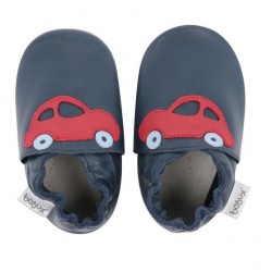 Soft sole Navy Red Racing Car