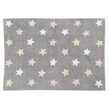 Tapis enfant souple tricolor étoiles