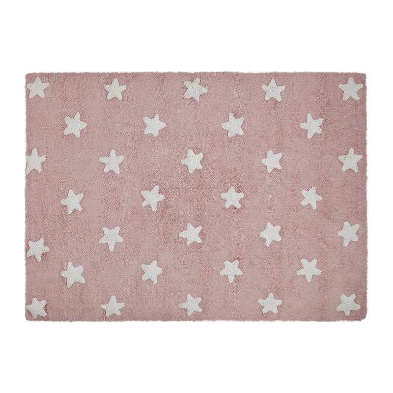 Gris//rose Lorena Canals tricolore /étoiles Tapis lavable