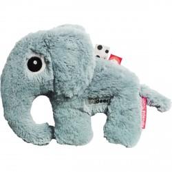 Doudou Petit Eléphant bleu (21 x 18 cm)